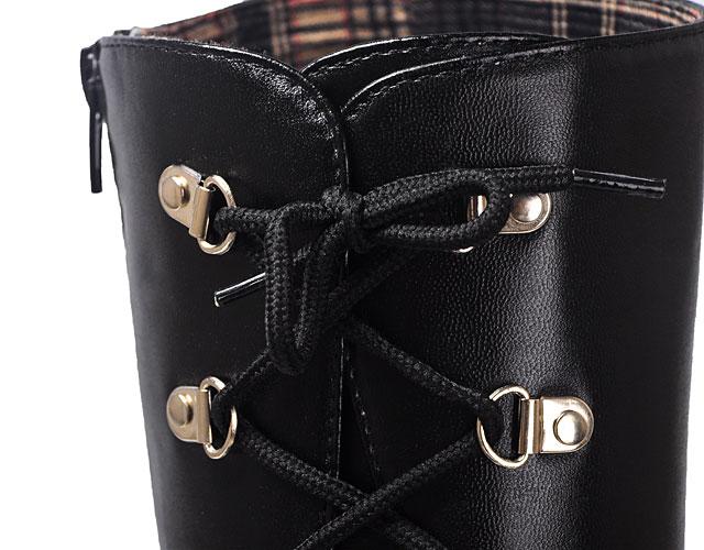 狂三松糕马丁靴系带细节图